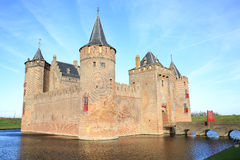 The historic Muider Castle in the Province North Holland, The Netherlands Royalty Free Stock Photos