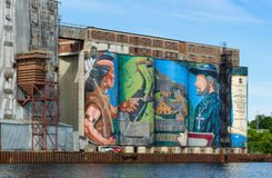 Historic mural in Midland, Ontario Royalty Free Stock Photography