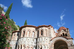 Historic mystras. In peloponnese - greece Royalty Free Stock Images