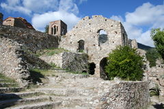 Historic mystras. In peloponnese - greece Stock Photo