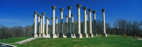 Historic National Capitol Columns Royalty Free Stock Photos