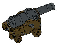 Historic naval cannon Royalty Free Stock Image