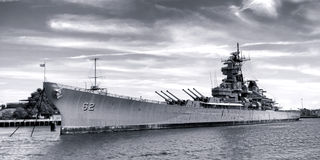 Historic Navy Battleship USS New Jersey in Camden Stock Images