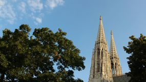 Historic Neo Gothic Votiv Church With Twins Towers Royalty Free Stock Image