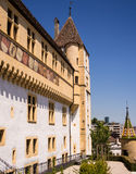 Historic Neuchatel Chateau, Switzerland Royalty Free Stock Photos