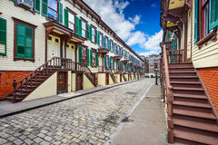 Historic New York City Rowhouses Stock Photography