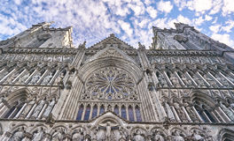 Historic Nidaros Cathedral in Trondheim, Norway Stock Photo