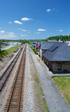 Historic Norfolk & Western Passenger Depot, Abington, Virginia Stock Photo
