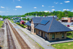 Historic Norfolk & Western Passenger Depot, Abington, Virginia Stock Image