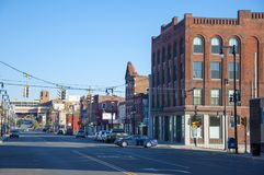 North Salina Street, Syracuse, NY. Historic North Salina Street in Northside Syracuse, New York State, USA Stock Image