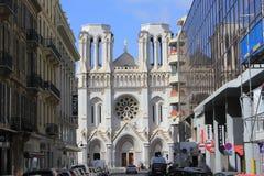 Historic Notre Dame de Nice Roman-catholic大教堂 图库摄影