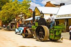 Historic Noyes Bros steamroller in Echuca. Royalty Free Stock Photos
