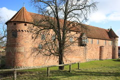 Historic Nyborg Castle on Funen Island, Denmark. Ancient fortress Stock Photos