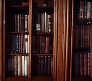 Historic old books in library Stock Image