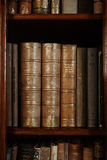 Historic old books in library Royalty Free Stock Photo