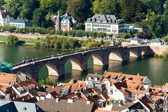 Historic,Old Bridge in Heidelberg, Germany Royalty Free Stock Images