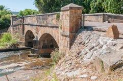 Historic old bridge over the Lourens River Stock Photo