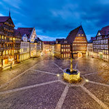 Historic old city of Hildesheim, Germany. Historic market place in the old city of Hildesheim, Germany Royalty Free Stock Photography