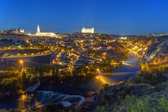 The historic old city of Toledo in Spain Royalty Free Stock Image
