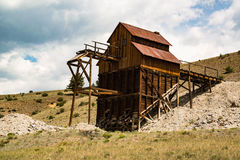 Historic old Clay Mine can still be seen near Creede, Colorado. Miners dug up Bentonite clay ore from the historic Clay mine near Creede, Colorado royalty free stock photos