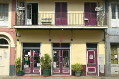 Historic old home in French Quarter of New Orleans, Louisiana sells antiques Royalty Free Stock Photo