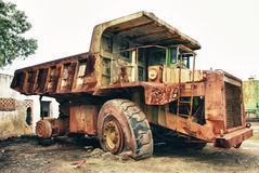 Historic old large dumper truck Stock Image