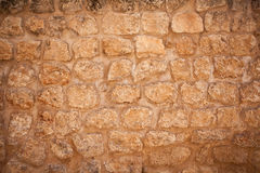 Historic Old Orange Stone Dirty Wall Royalty Free Stock Photography