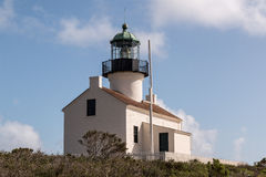 Historic Old Point Loma Lighthouse at Cabrillo National Monument Stock Photos