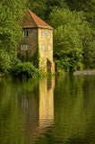 Historic old pump house on river banks. A historic old pump house on river banks, England. Autumn Reflections of Durham Pump house in the River Wear Royalty Free Stock Photo