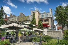 Historic Old Quebec view royalty free stock photo
