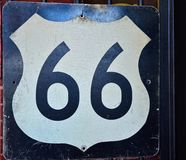 Historic old Route 66 sign. Stock Photo