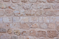 Historic Old Stone Cream Orange Wall Stock Images