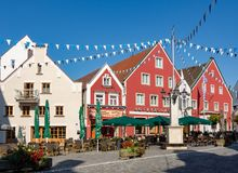 Historic old town of Abensberg stock image