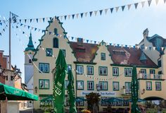 Historic old town of Abensberg royalty free stock images
