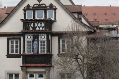 The historic old town of Bamberg with baroque architecture and iconic wood-framed houses - Germany. The historic old town of Bamberg with baroque architecture royalty free stock photos