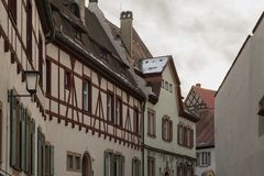The historic old town of Bamberg with baroque architecture and iconic wood-framed houses - Germany. The historic old town of Bamberg with baroque architecture royalty free stock photo
