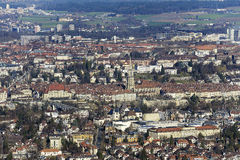 The historic old town of Bern seen in the distance Royalty Free Stock Photography