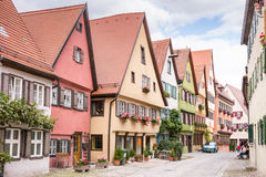 Historic old town of Dikelsbuehl Stock Photos