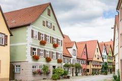 Historic old town of Dikelsbuehl Stock Photos