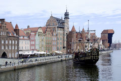 Historic Old Town of Gdansk in Poland Royalty Free Stock Image