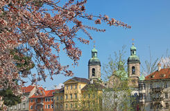 Historic old town of innsbruck at springtime Stock Image