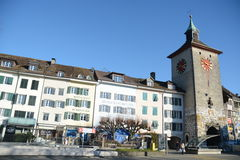 Historic Old Town Of Solothurn Stock Photos