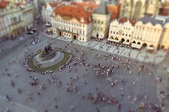 Historic Old Town Square in Prague at sunset royalty free stock photo