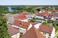 The historic old town of Templin, East Germany Royalty Free Stock Photos