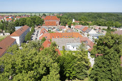 The historic old town of Templin, East Germany Royalty Free Stock Photo