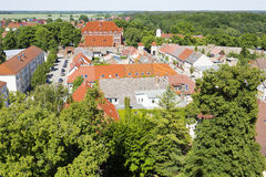 The historic old town of Templin, East Germany Stock Image