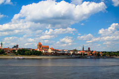 Historic old town in Torun, Poland. Historic architecture of the old town of Torun on the Vistula River royalty free stock images