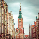 Historic Old Town with the town hall Royalty Free Stock Photography