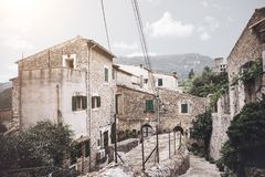 Historic old town of Valldemossa on the island of Majorca Stock Images