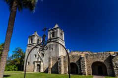 The Historic Old West Spanish Mission Concepcion, Established 1716, San Antonio, Texas. Royalty Free Stock Images
